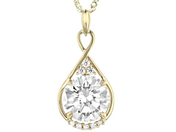 Picture of Moissanite 14k Yellow Gold Pendant 2.81ctw DEW.