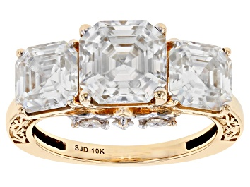 Picture of Moissanite 10k Yellow Gold Ring 6.20ctw DEW.