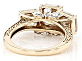 Moissanite 10k Yellow Gold Ring 6.20ctw DEW.