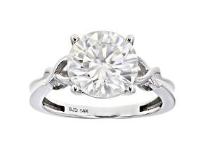 Moissanite 14k white gold ring 3.60ct DEW.