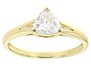 Moissanite 14k Yellow Gold Ring .70ct DEW.