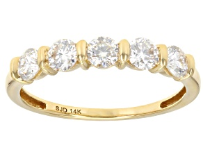 Moissanite 14k Yellow Gold Ring .80ctw DEW.