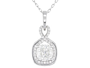 Moissanite 14K White Gold Pendant 2.04ctw DEW.