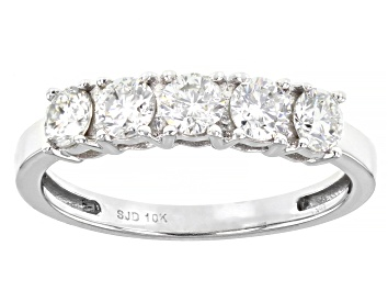 Picture of Moissanite 10k White Gold Ring .80ctw DEW.