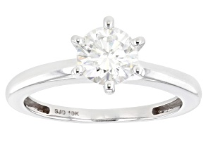 Moissanite 10k white gold ring 1.00ct DEW