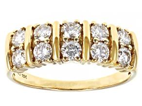 Moissanite 10k yellow gold ring 1.00ctw DEW.