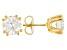 Moissanite 14k Yellow Gold Over Sterling Silver Stud Earrings 3.00ctw D.E.W.