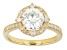 Moissanite Fire® 1.90ctw Diamond Equivalent Weight Round 14k Yellow Gold Over Sterling Silver Ring