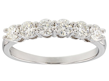 Picture of Moissanite Fire® .96ctw Diamond Equivalent Weight Round Platineve™ Ring