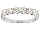 Moissanite Fire® .96ctw Diamond Equivalent Weight Round Platineve™ Ring