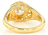 Moissanite 14k Yellow Gold Over Silver Ring 1.00ct DEW