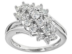 Moissanite Fire ® .94ct Diamond Equivalent Weight Round Platineve™ Ring