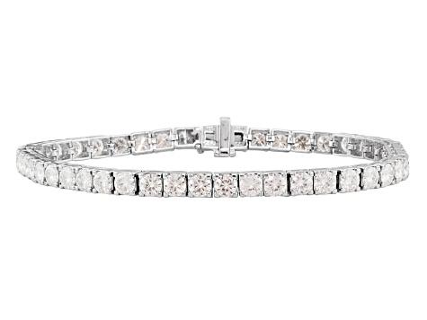 Moissanite Platineve Tennis Bracelet 10 58ctw D E W