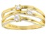 Moissanite Ring 14 Yellow Gold Over Silver .18ctw DEW
