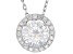 Mossiante Platineve Pendant With Chain 1.70ctw DEW