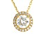 Moissanite 14k Yellow Gold Over Silver Pendant With Chain 1.70ctw DEW