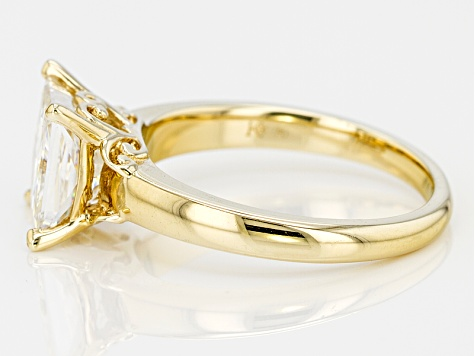 Moissanite 14k Yellow Gold Over Silver Ring 3.20ct DEW
