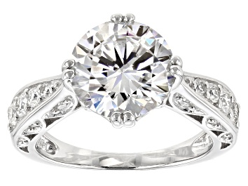 Picture of Moissanite Platineve Ring 4.10ctw DEW