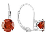 Red Moissanite Platineve earrings 2.00ctw DEW