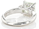 Moissanite Platineve Ring 2.30ct DEW