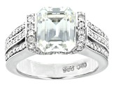 Moissanite platineve ring 4.04ctw DEW
