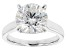 Moissanite Platineve Ring 4.75ct DEW