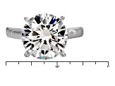 Moissanite Platineve Ring 6.13ct DEW