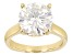 Moissanite 14k Yellow Gold Over Silver Ring 6.13ct DEW