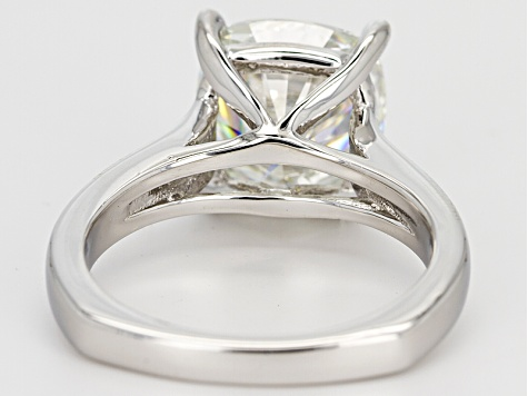 Moissanite Platineve Ring 5.02ct DEW