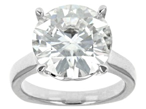 Moissanite Platineve Solitaire Ring 7.75ctw  DEW