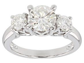 Moissanite Platineve Ring 2.16ctw DEW