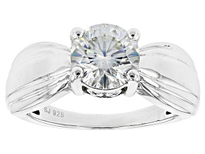Moissanite Platineve Ring 2.04ctw DEW