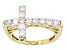 Moissanite 14k Yellow Gold Over Silver Ring .72ctw DEW