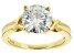 Moissanite Ring 14k Yellow Gold Over Silver 3.60ct