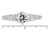 Moissanite Ring Platineve ™ .80ct DEW