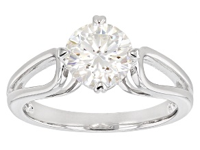 Moissanite Ring Platineve ™ 1.50ct DEW