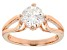 Moissanite Ring  14k Rose Gold over Sterling Silver 1.50ct DEW