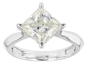 Moissanite Ring Platineve ™ 2.80ct DEW