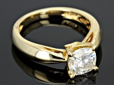 Moissanite Ring 14k Yellow Gold Over Silver 1.70ct DEW