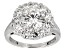 Moissanite Platineve Ring 3.10ctw DEW
