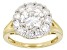 Moissanite Ring 14k Yellow Gold Over Silver  3.10ctw DEW