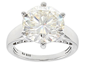 Moissanite Platineve Ring 7.00ct DEW