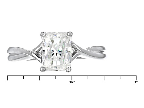 Moissanite Ring Platineve™ 1.80ct DEW