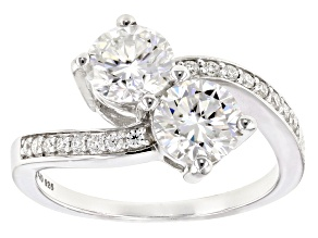 Moissanite Ring Platineve™ 2.16ctw DEW