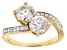 Moissanite Ring 14k Yellow Gold Over Silver 2.16ctw DEW