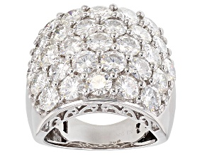 Moissanite Ring Platineve™ 7.25ctw DEW