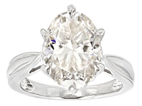 Moissanite Ring Platineve™ 7.22ct DEW