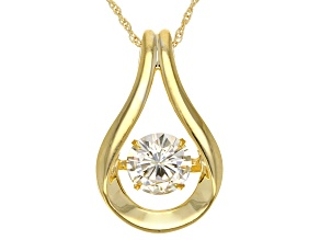 Moissanite Pendant 14k Yellow Gold Over Silver 1.20ctw DEW.