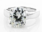 Moissanite Ring Platineve 4.20ct DEW