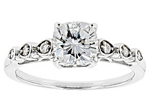 Moissanite Ring Platineve™ 2.06ctw DEW